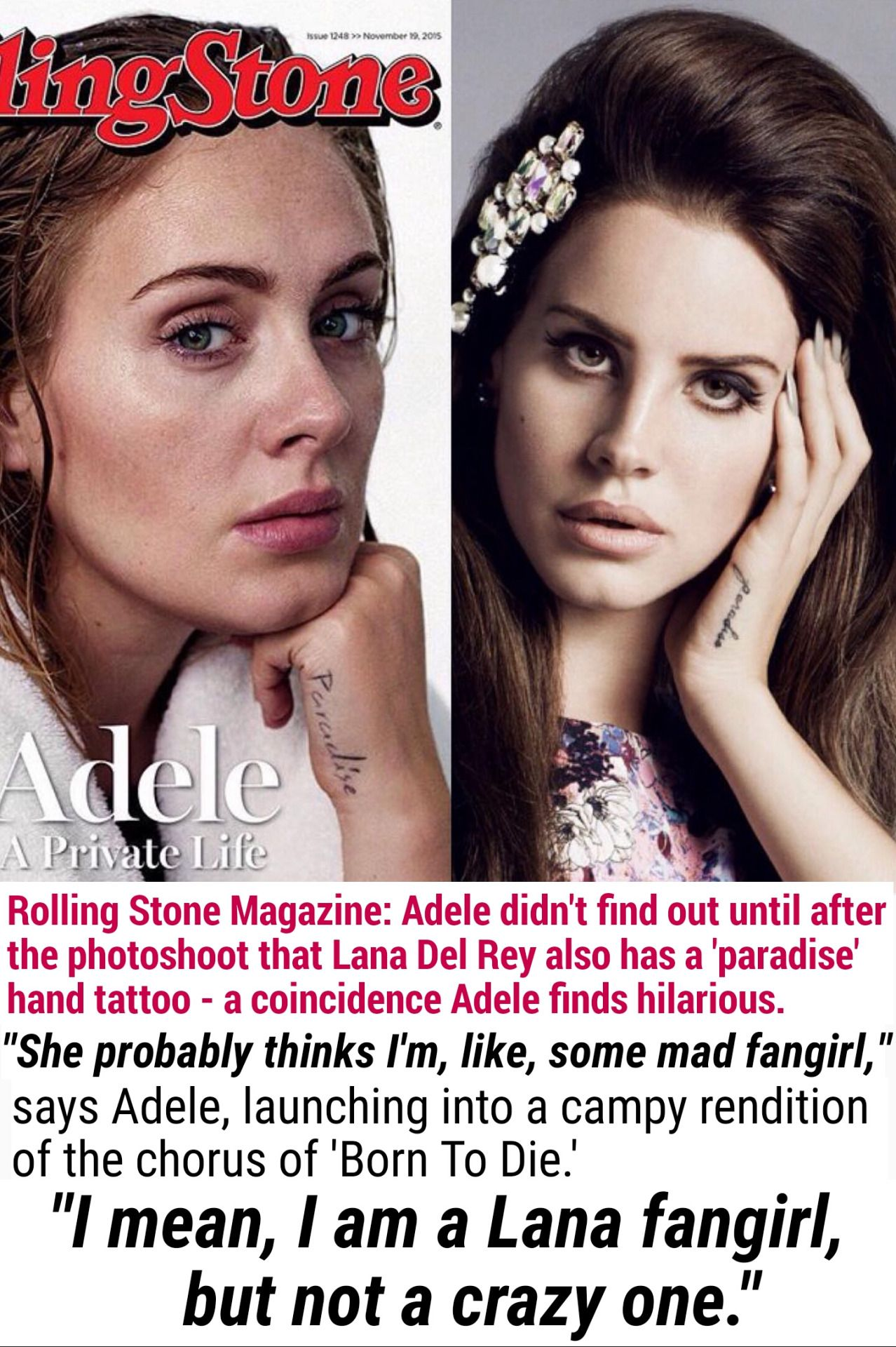 Adele Mentions Lana Del Rey A Third Time When She Discusses Their