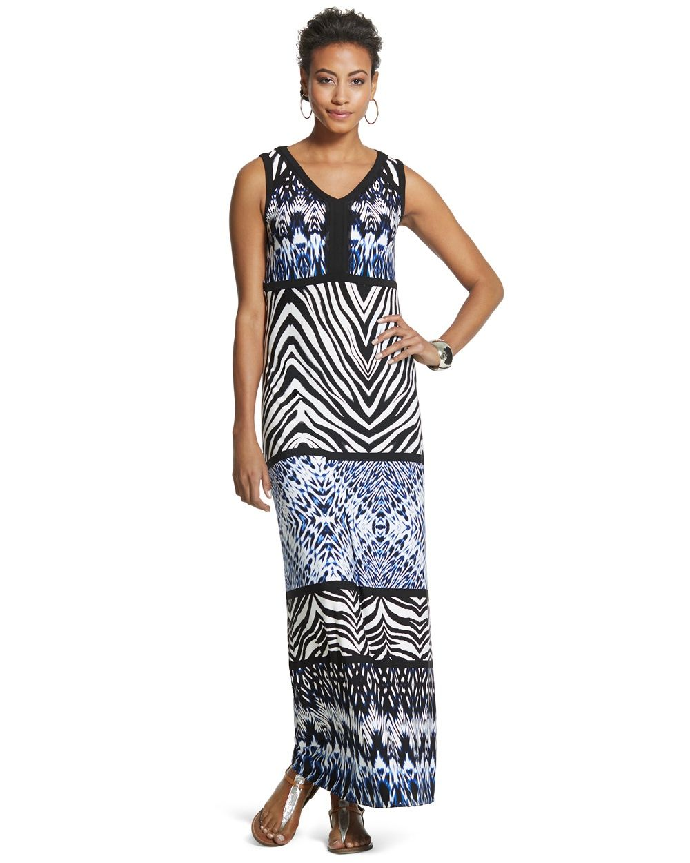 933d213353c Chico s Women s Knit Kit Printed Maxi Dress