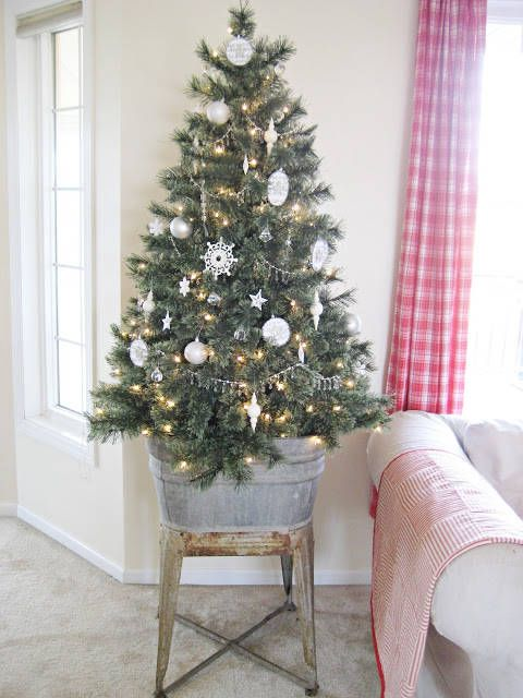 christmas decoration ideas for small living room modern art pictures 7 holiday decorating spaces home it s don t feel pressured to shove a too big tree into your instead choose smaller and raise up on platform