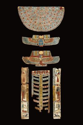 A Mummy Cover. Cartonnage, polychrome painting. Egypt, Ptolemaic Period, 1st cent. B.C.-1st cent. A.D.