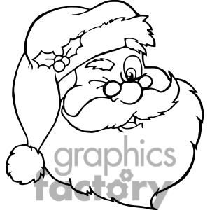 Clipart Of Santa Claus Winking Outline 381417 Christmas Colors Christmas Coloring Pages Coloring Pages