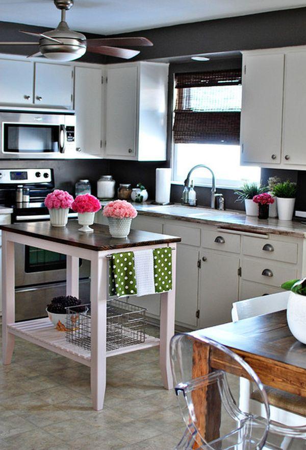 10 Small Kitchen Island Design Ideas Practical Furniture For Small Spaces Kitchen Design Small Eclectic Kitchen Kitchen Island Design