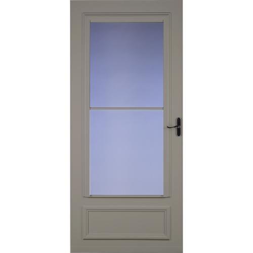 Larson Royal Oak Screen Away 32 X 80 Sandstone Finish Mid View Storm And Screen Door With Aged Bronze H Screen Door Tall Cabinet Storage Security Storm Doors