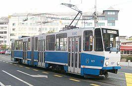 Tram Tatra KT4YU in Zagreb