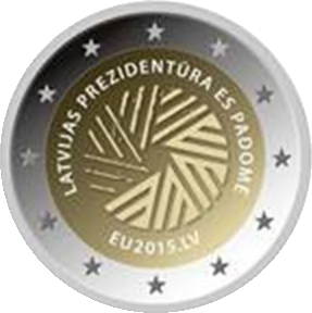 "Latvian 2 euro commemorative coin ""Presidency of the Council of the European Union 2015"""