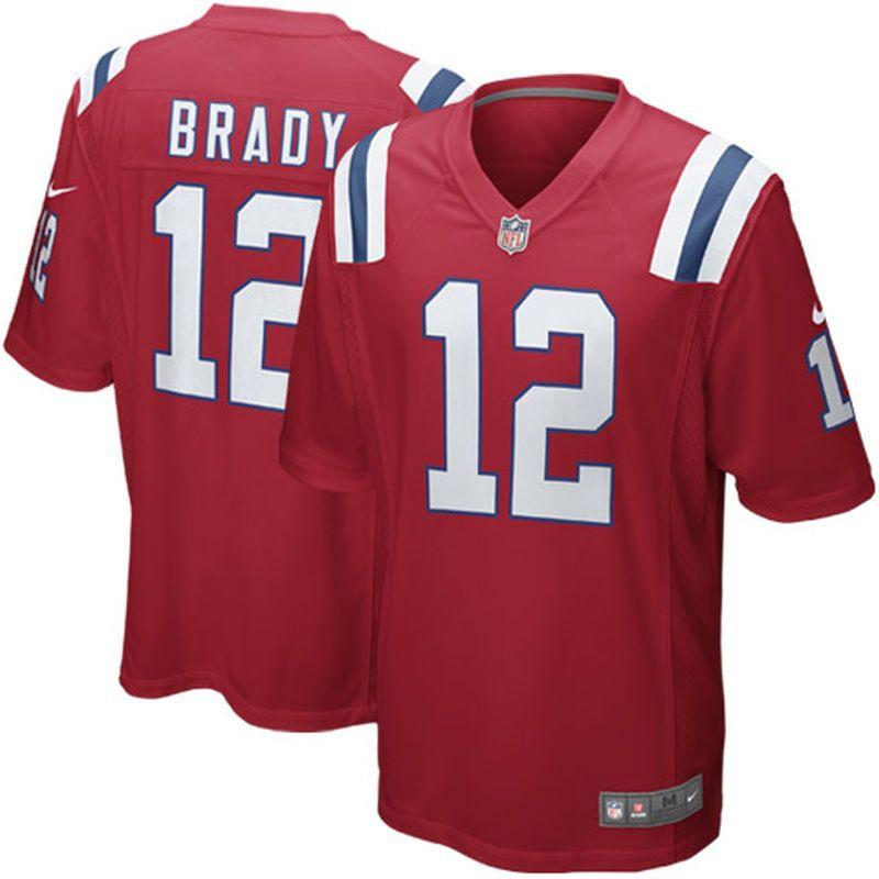 94d6728c2 Tom Brady New England Patriots Nike Youth Alternate Game Jersey – Red