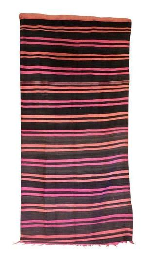 Use this great blanket to add some authentic #Moroccan #style to your home.  This wool blanket features a bright, contrasting palette of pinks and blacks.  It can be used as a blanket, carpet or table covering. Available at Maryam Montague's online Souk!