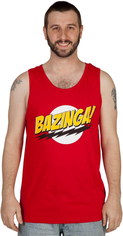Big Bang Theory Bazinga Tank Top