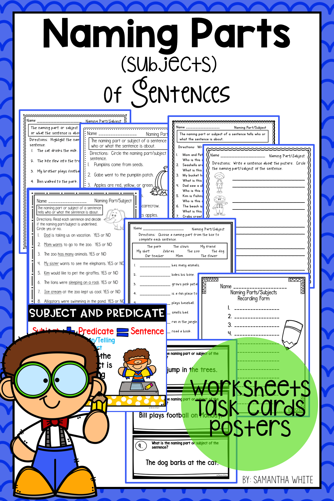 Naming Parts Subjects Of Sentences