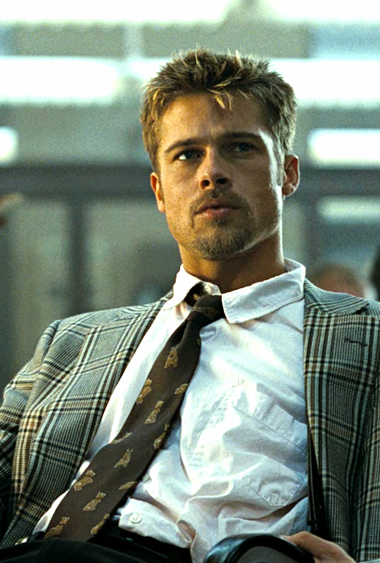 Brad Pitt In Se7en 1995 Brad Pitt Brad Pitt Hair Seven Movie
