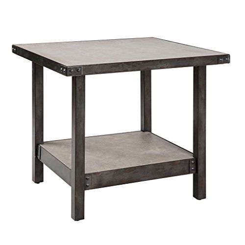 Cody End Table Pewter