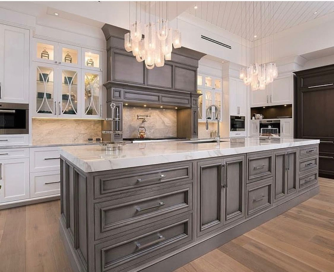 I Like The Idea Of The Matching Hood Vent To The Island Kitchen Cabinet Design Custom Kitchen Cabinets Kitchen Renovation