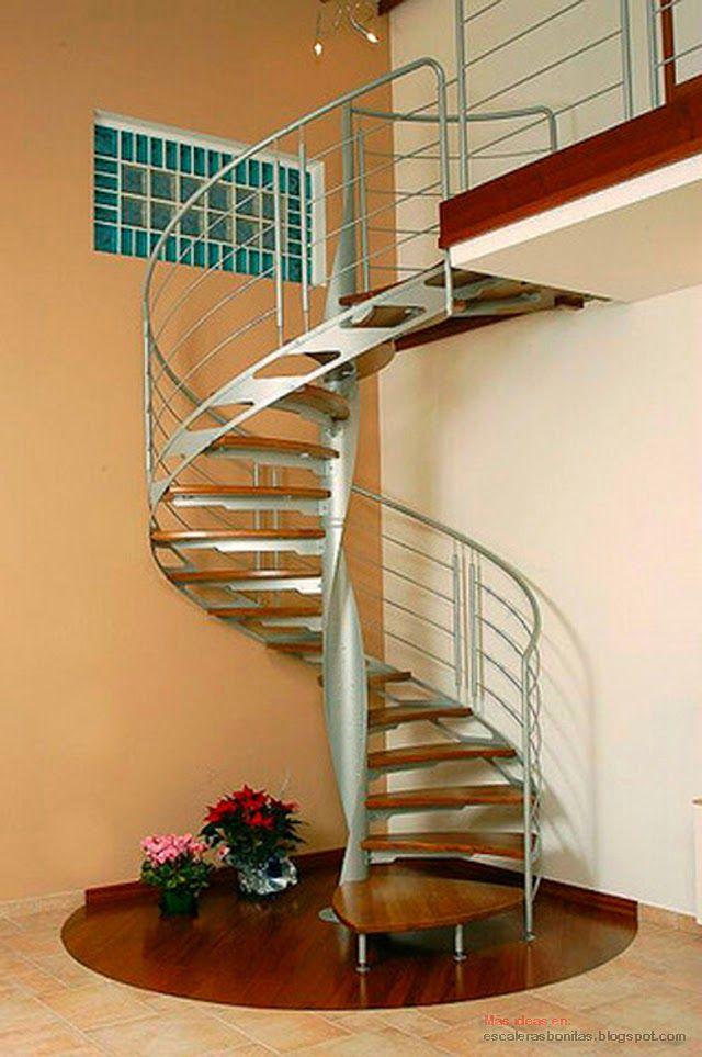 Escalera de caracol met lica decoraci n - Dimensiones escalera de caracol ...