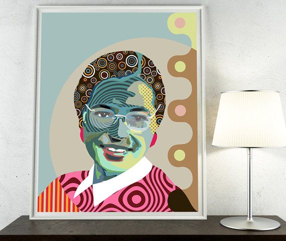 Rosa Parks African American Civil Rights Activist Montgomery African American Wall Art History Painting Art