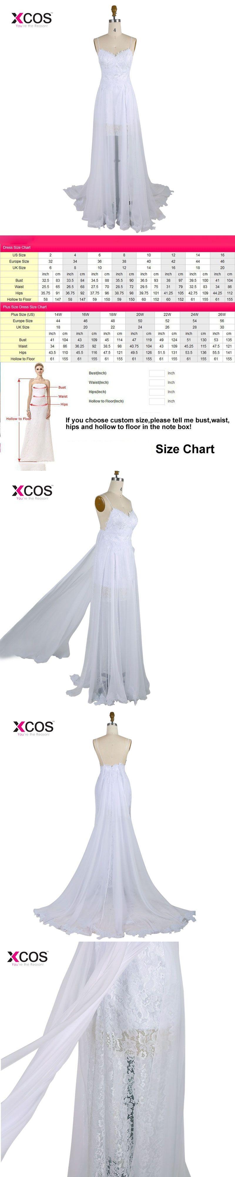 Spaghetti strap beach wedding dress boho cheap bohemian lace front