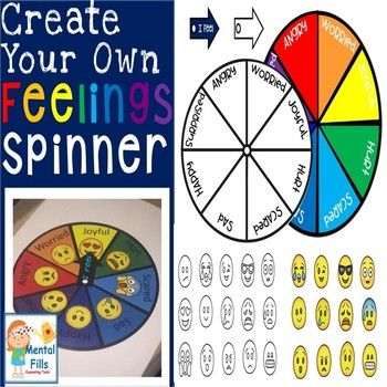After You Create Your Own Feelings Spinner Use This Fun Craft To Play Charades Or Help Identify And Share Feel Teaching Emotions Feelings School Based Therapy