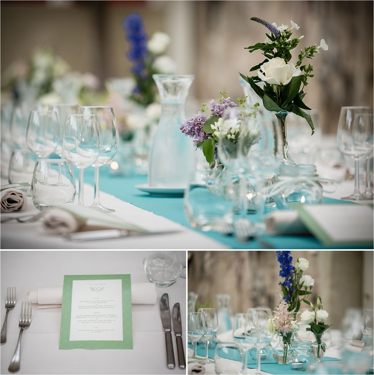 Light blue wedding decoration ideas  tiffany blue purple and cobalt  Tiffanyus Wedding  Pinterest