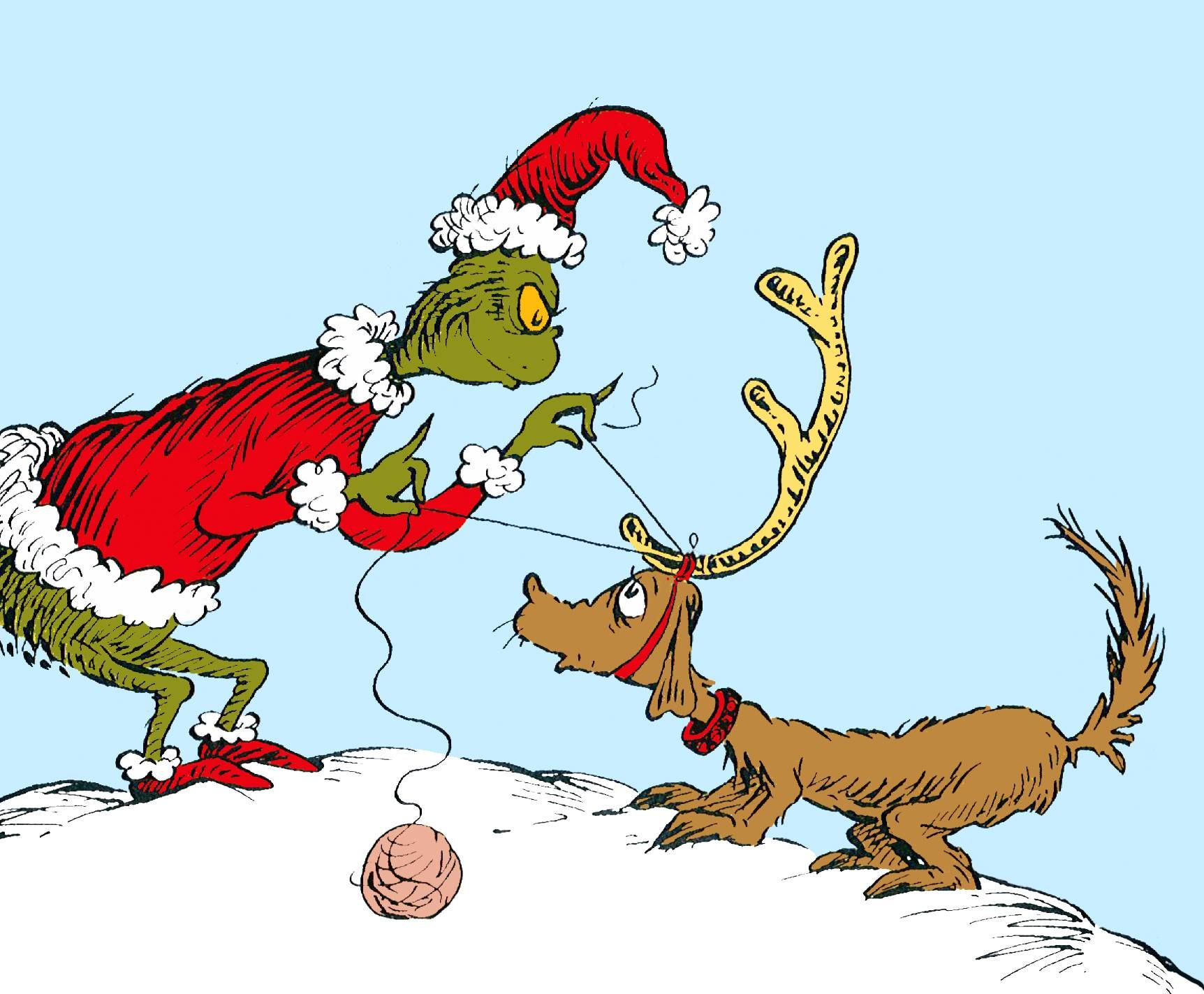 """All I need is a reindeer . . ."" The Grinch looked around"