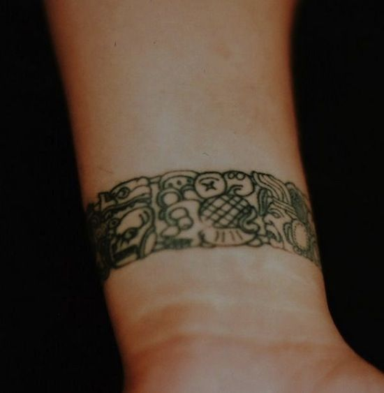mayan bracelet tribal tattoos egodesigns