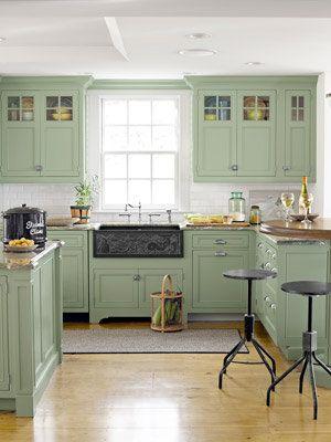 green kitchen cabinets 8 great green room ideas yahoo shine