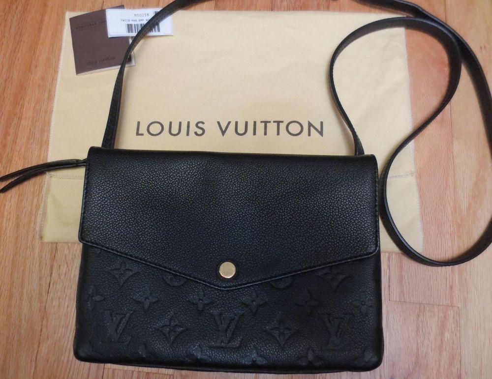 71951c978b Louis Vuitton Twice Twinset Noir Black Monogram Empreinte Leather ...