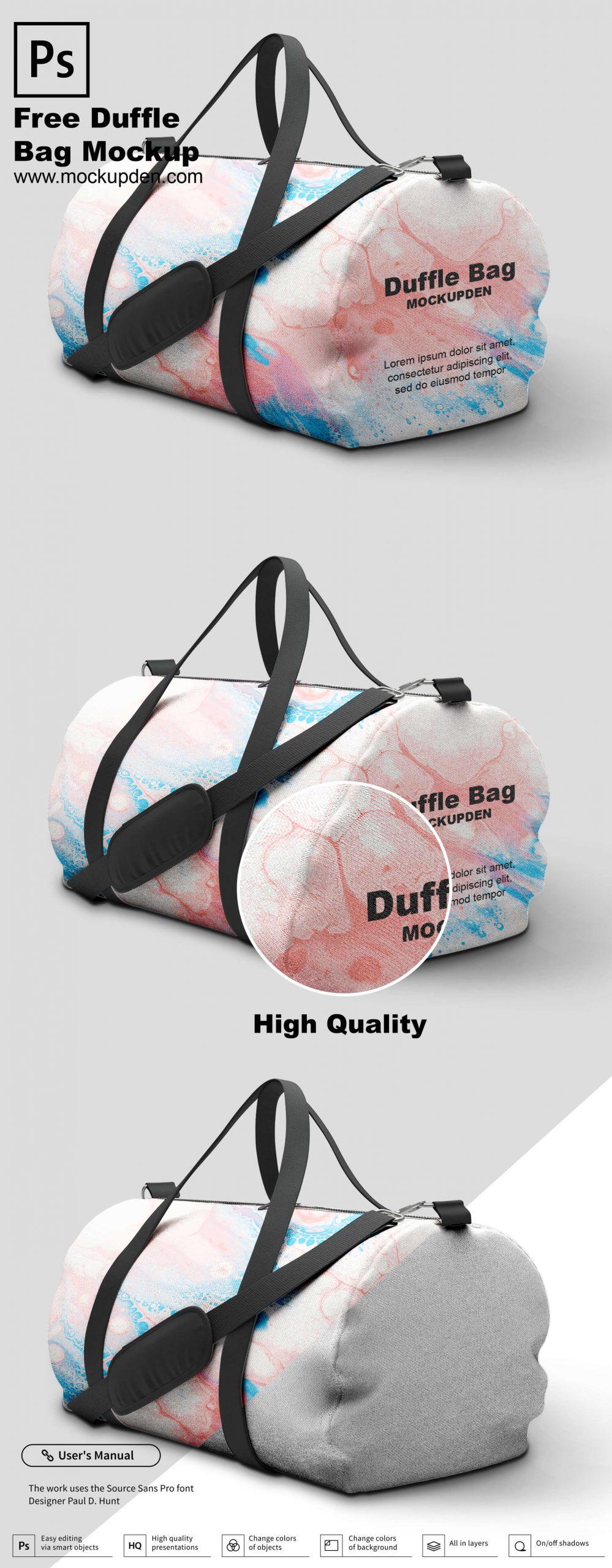 6827+ Sport Bag Mockup Best Free Mockups