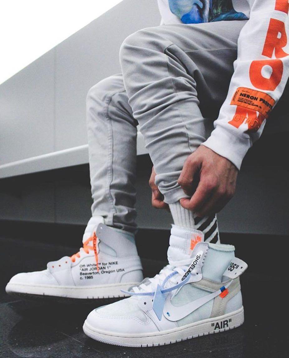 Air Jordan 1 Off White 2 0 Off White Shoes Sneakers Men Fashion Nike Retro