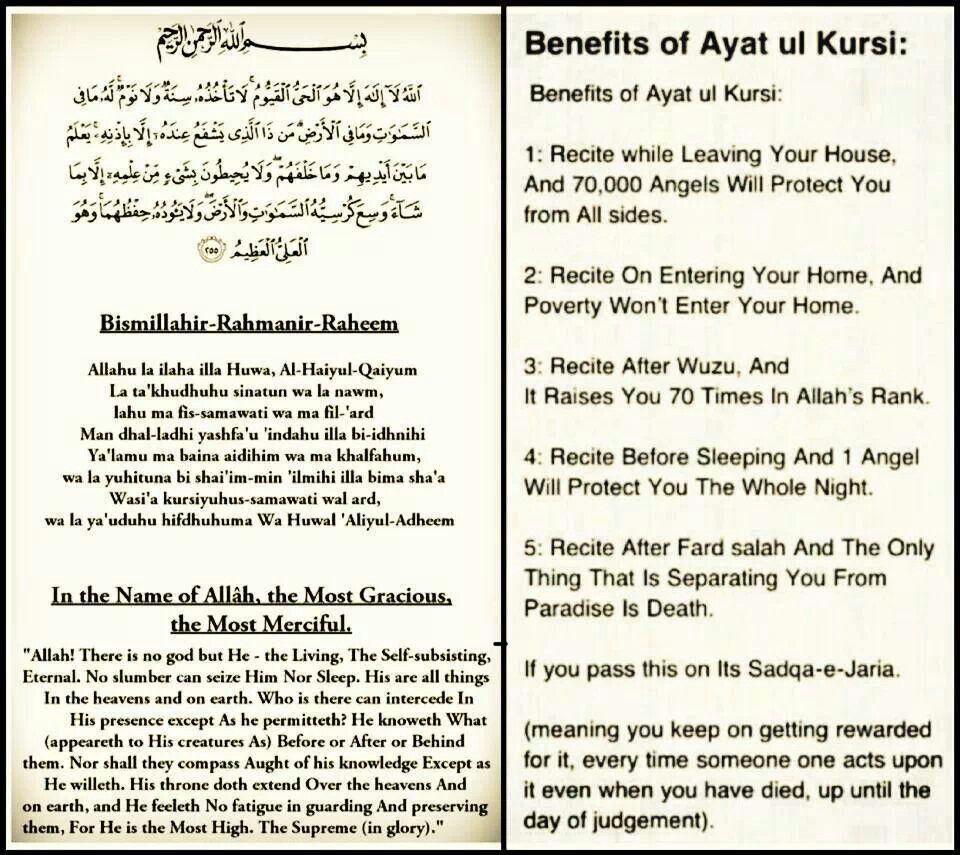 Ayat Kursi : Learn Quran Ayat Al Kursi Ayatul Kursi ...