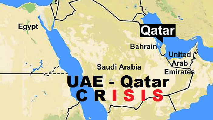 What is the Qatar Issue, and why are US Interests Threatened by UAE Qatar Uae Map on