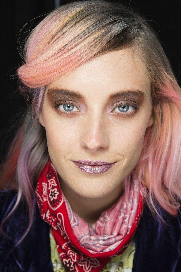 Rodarte Autumnwinter 2014 Ready To Wear Lips Rainbow Hair And