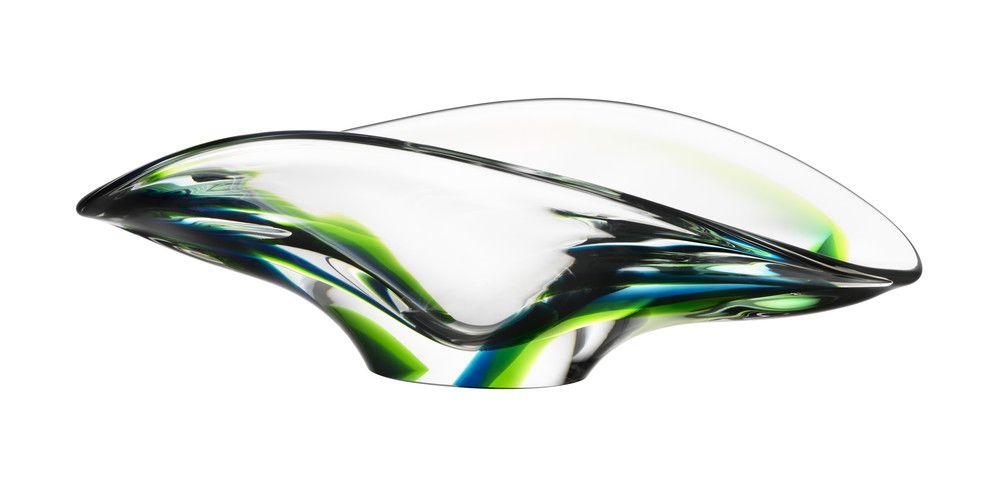 Verde bowl green, design by Göran Wärff for Kosta Boda