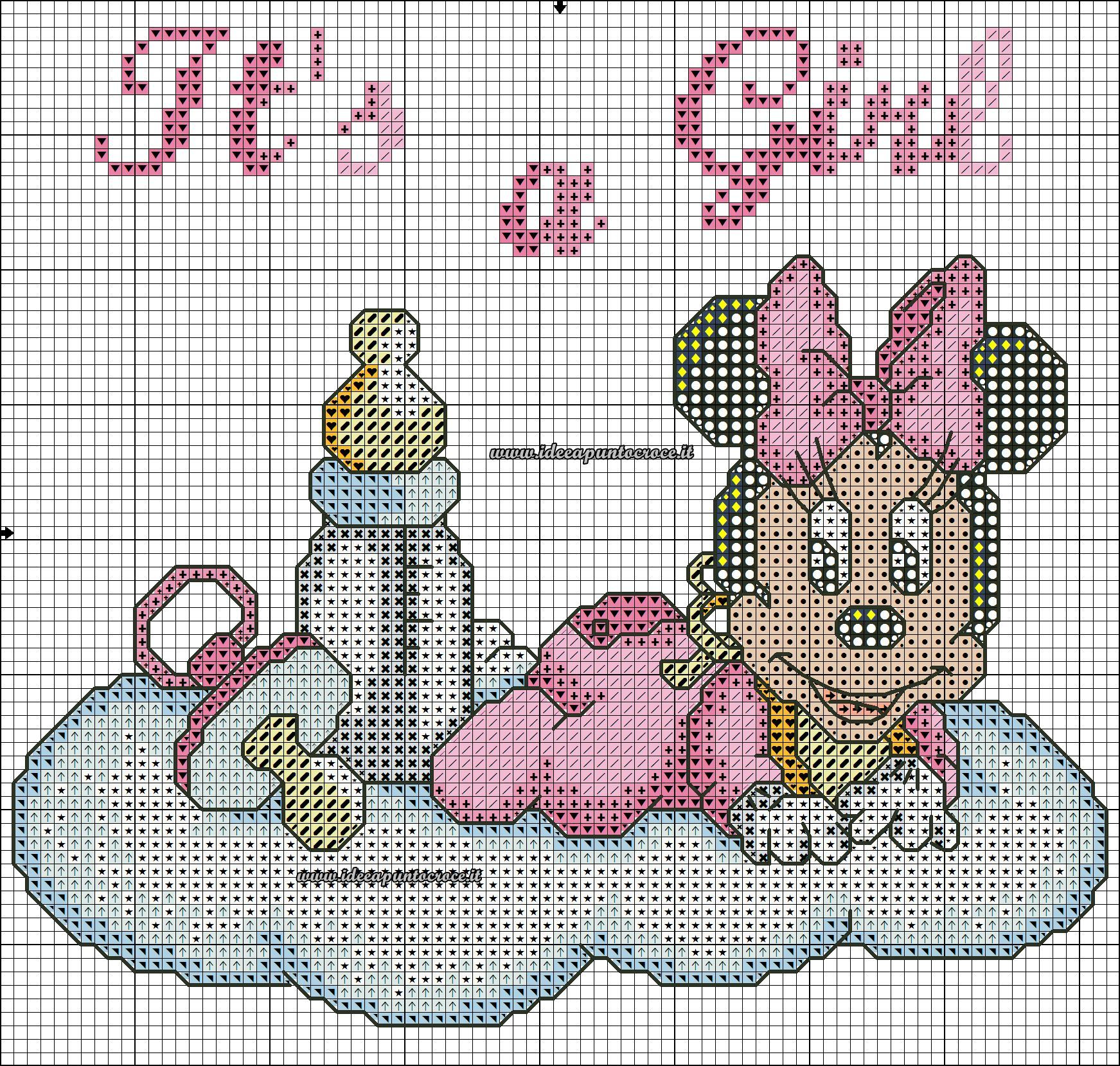 Baby Minnie Schema Punto Croce Disney Pinterest Cross Stitch