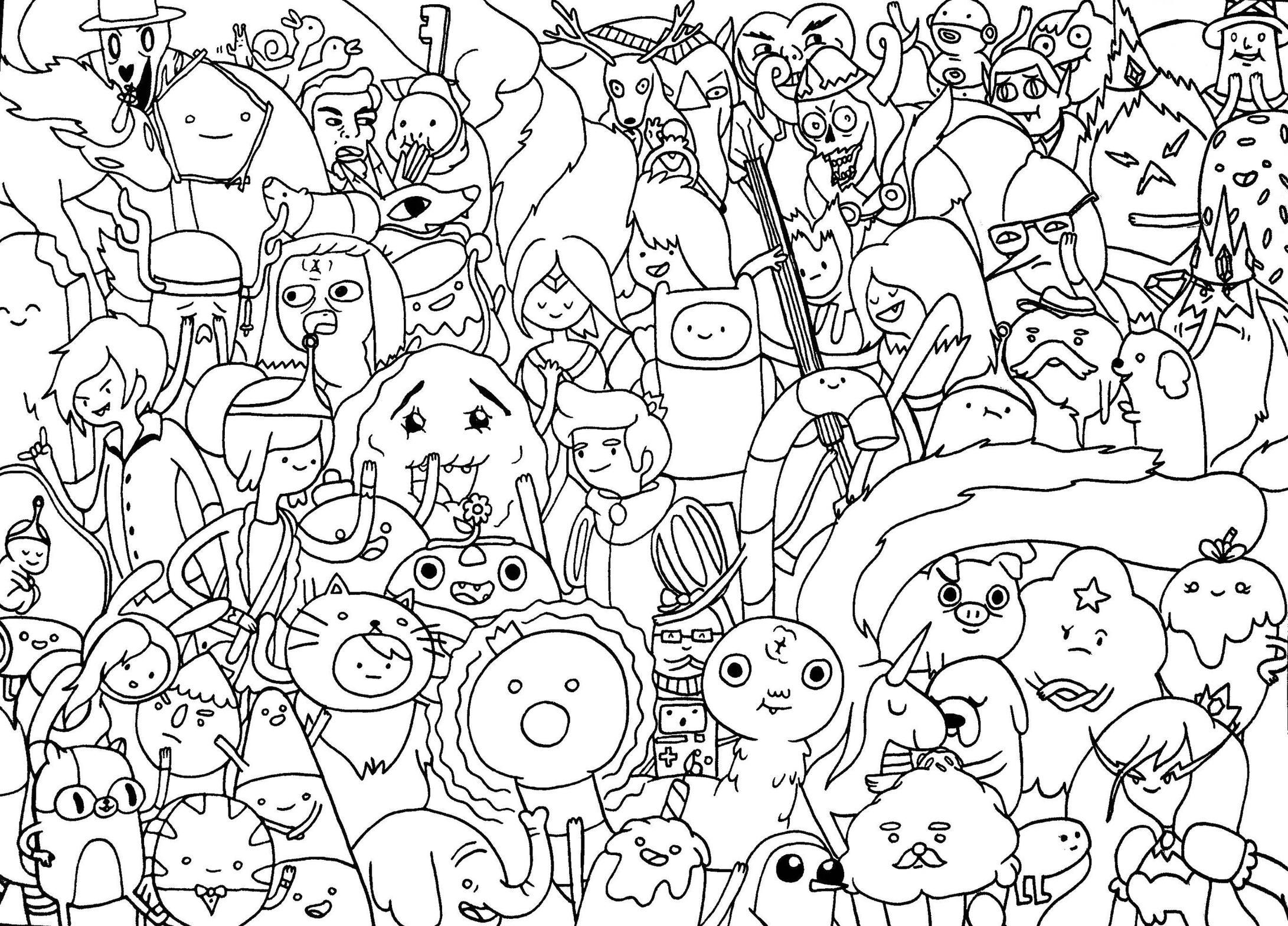adventure time characters coloring pages - photo#27