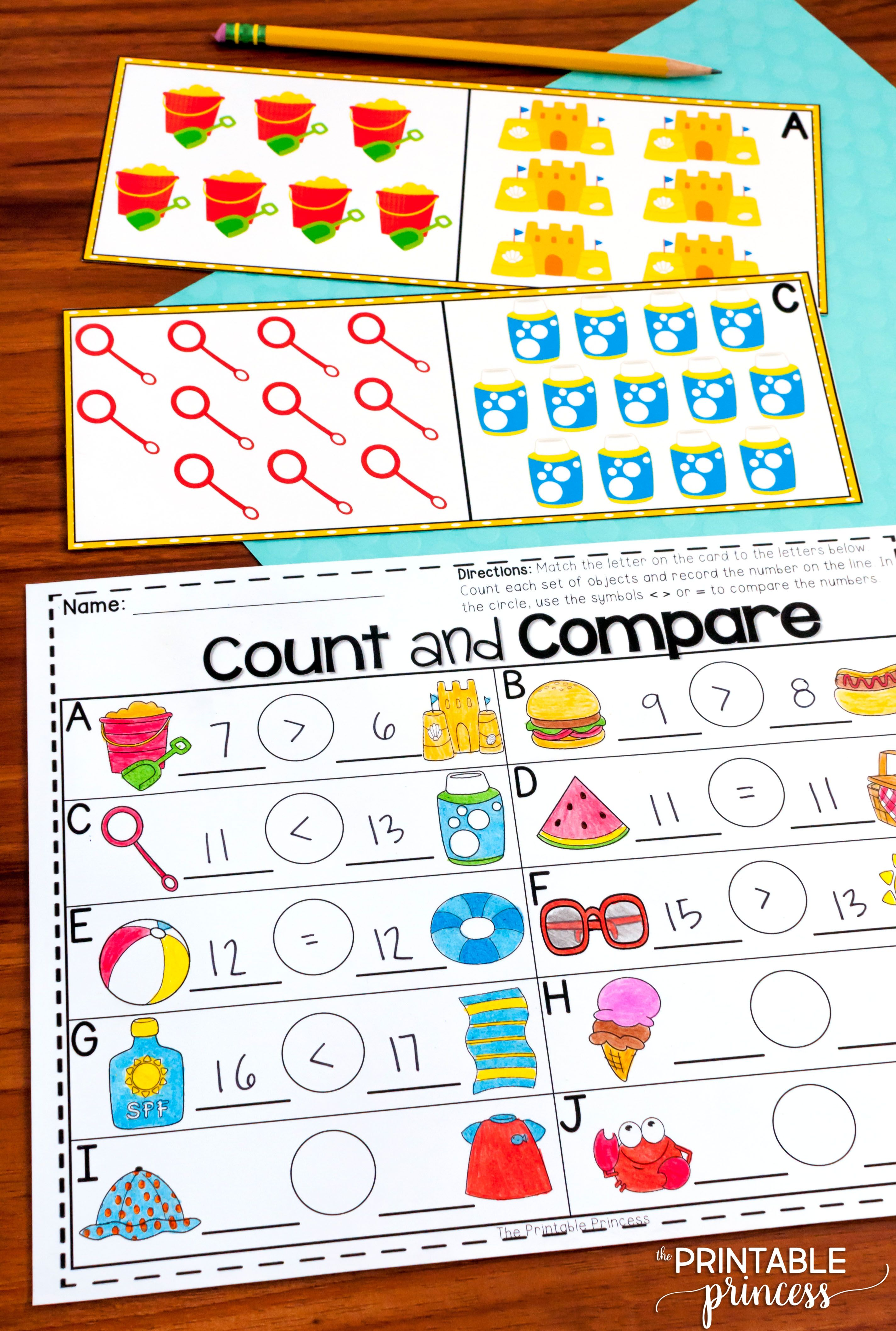 Summer Centers For Kindergarten Literacy And Math