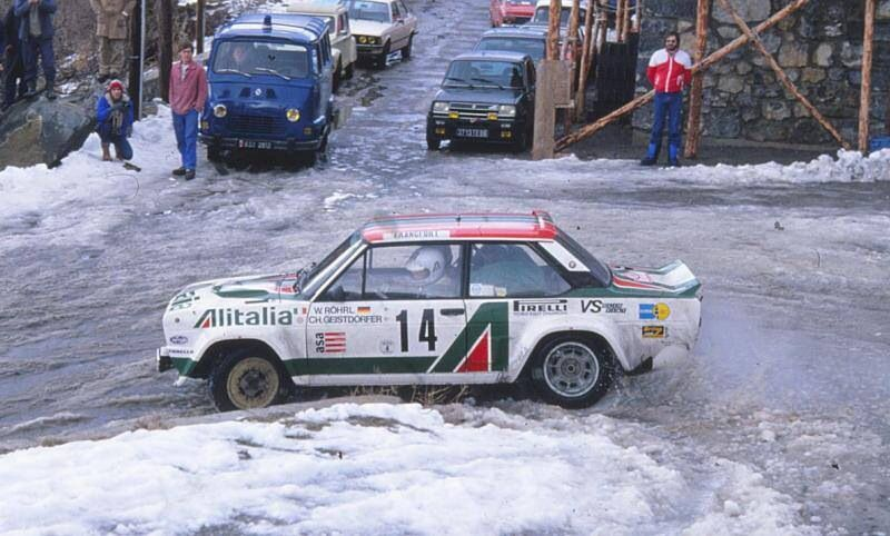 walter r hrl fiat 131 abarth rallye monte carlo pro rally pinterest fiat monte carlo. Black Bedroom Furniture Sets. Home Design Ideas