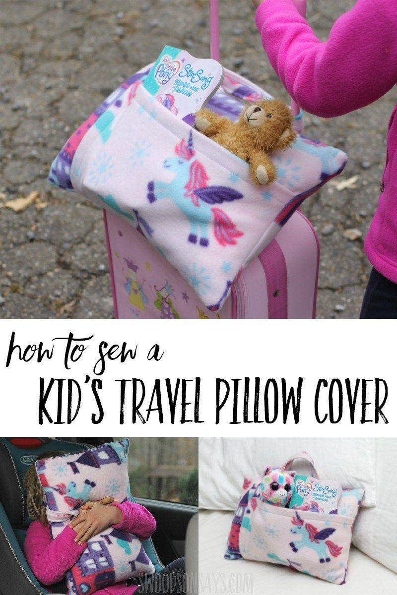 Kid S Travel Pillow Sewing Tutorial Fleece Sewing Projects Kids Travel Pillows Sewing For Kids