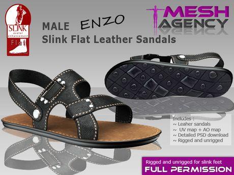 2e03c71e20d Second Life Marketplace - Slink MALE flat sandals