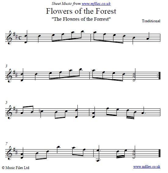 Flowers Of The Forest Sheet Music