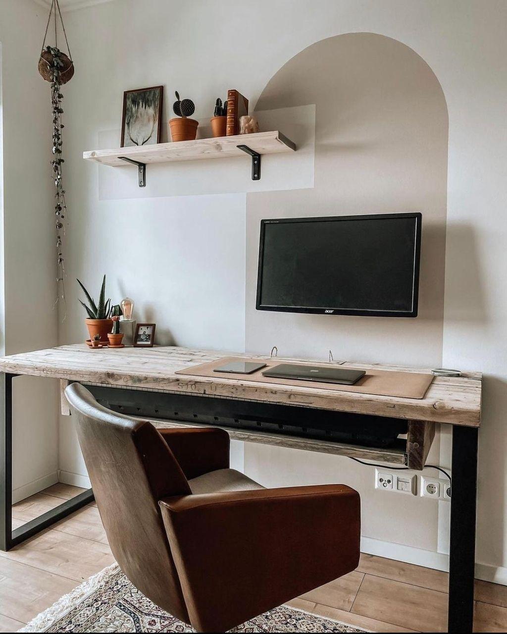 Unser selbstgebauter Schreibtisch aus Gerüstbohlen ... in 21 ...