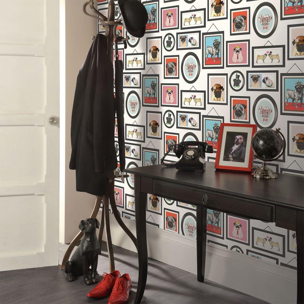 A Pug's Life Pug Frames Wallpaper Holden 11360 Feature