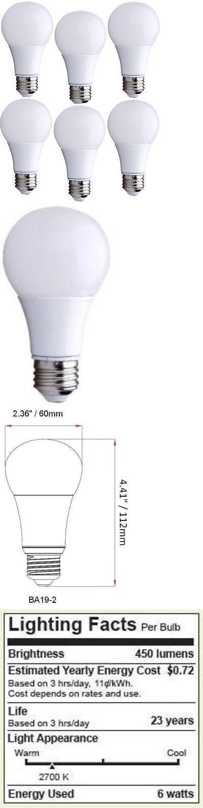 Bioluz Led 40 Watt Led Light Bulbs 40w A19 Bulb Uses Only 6 Watts Warm White 2 Ebay Led Light Bulbs Bulb Light Bulbs