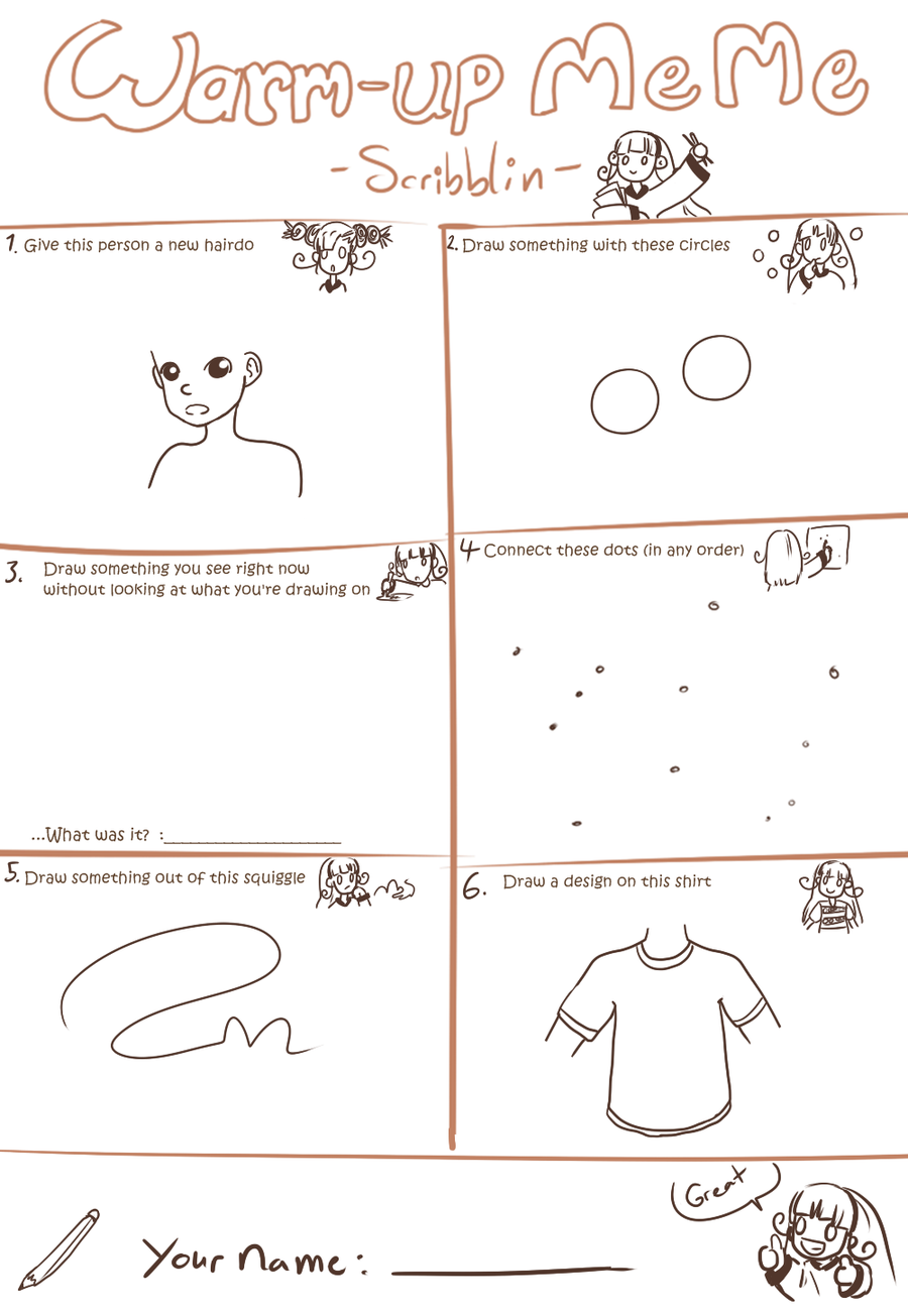 Warm Up Meme Template By Scribblin On Deviantart Memes Classroom Memes Drawing Exercises