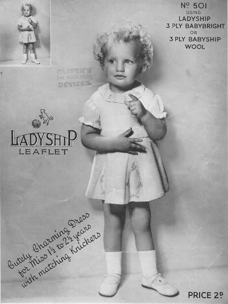vintage baby lace knit dress pattern