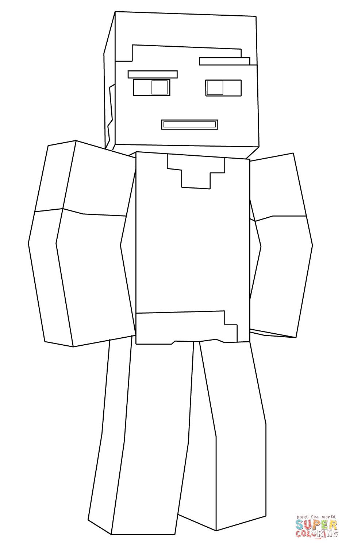 Minecraft Steve Super Coloring In 2020 Minecraft Steve Minecraft Coloring Pages Minecraft Drawings