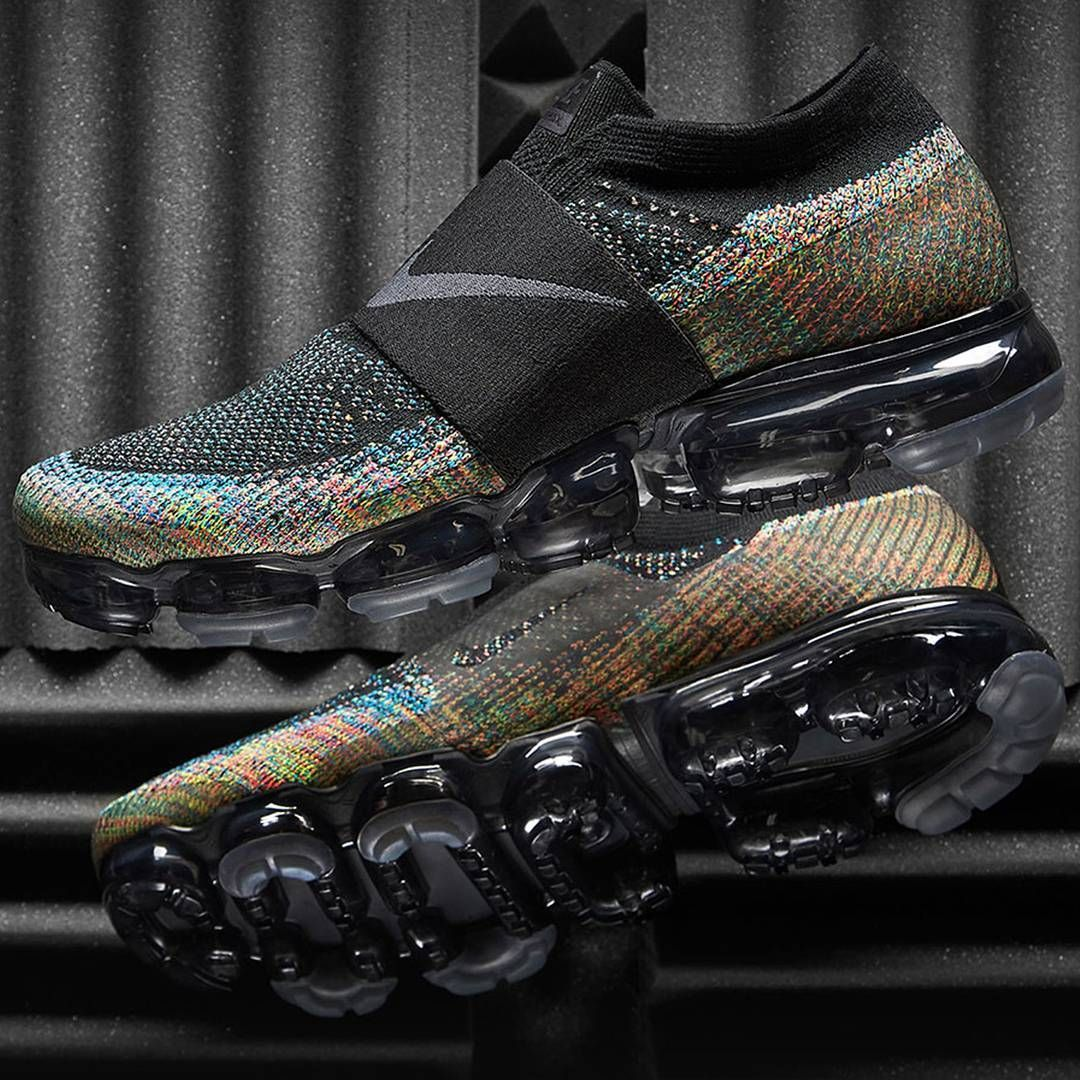 00215b74d6db8 Nike Air VaporMax Flyknit Moc Black   Multicolor Credit   END. Clothing
