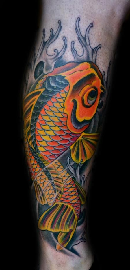 Diego - Koi Fish Tattoo- Freehand I have no ink but this
