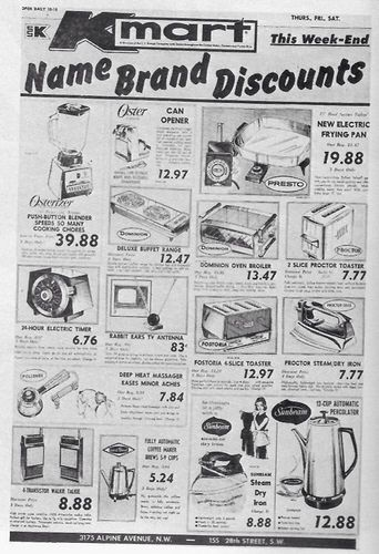 9eff7092673 1968 Kmart ad - note both the Kmart and Kresge logos!