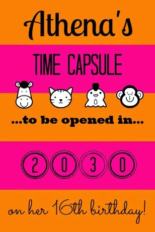 Activity Idea For A Baby Shower Make A Time Capsule Learn How To