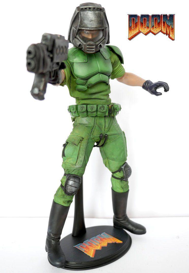 Doom Marine Custom Action Figure By Somethinggerman On Deviantart