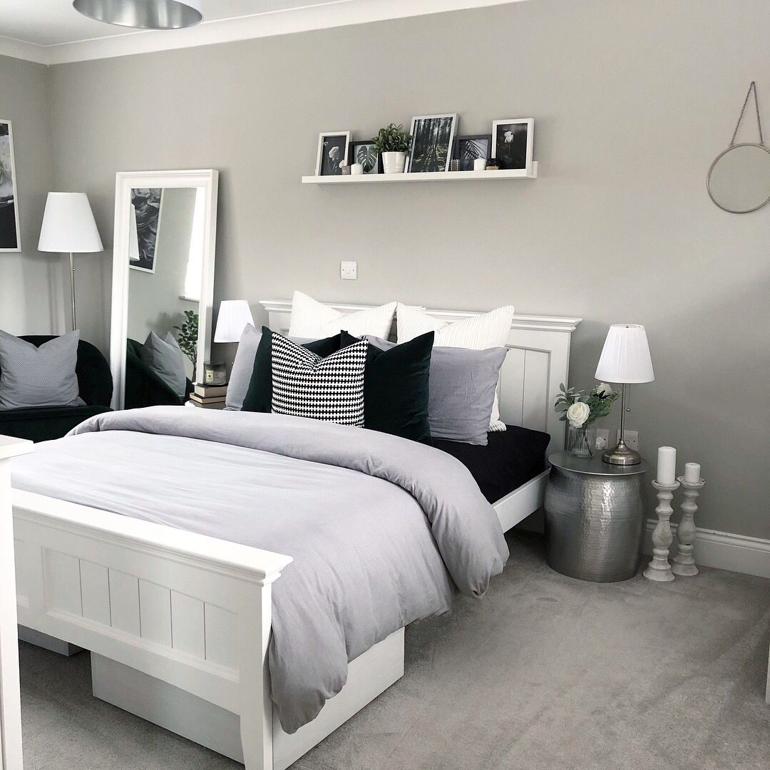 Photo of Luxurious gray bed room inspiration